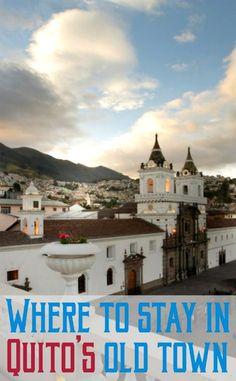 View from the Casa Gangotena in Quito, Ecuador