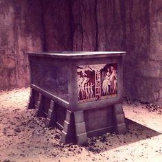 A peek inside crypt at Comic-Con. Dracula 2013, Dracula Nbc, Vampire Dracula, Dracula Jonathan Rhys Meyers, Order Of The Dragon, 19th Century London, Bram Stoker, Deathly Hallows, Vampires