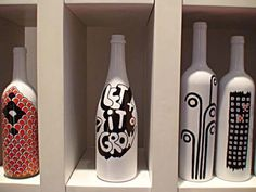 Como pintar garrafas de vidro em casa 013