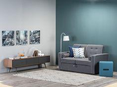 Top 9: Nuestros sofás favoritos. Sofá cama Larisa. Tapete. Cuadros decorativos. Cómoda. Lámpara. Diseño interior. Tugó. Encuentra dónde comprar este diseño y Producto en Colombia.