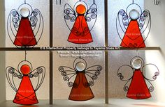 Angels - Orange Stained Glass https://www.facebook.com/groups/TayamaCrafts/