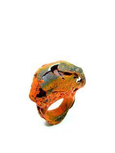 Fabrizio Tridenti - anello bronzo e acrilici