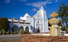 oceanside - Mission San Luis Rey - King of the California missions - beautiful rosé gardens and cemetery,  -Visited 2014