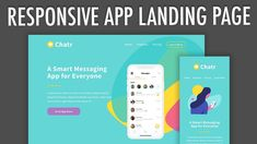 In this tutorial, I'll show you how to code this responsive app landing page using the latest in web development; Coding Tutorials, App Landing Page, People Online, Web Development, Web Design, Messages, Education, Website, Learning