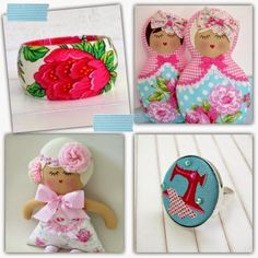 Flowers, Frills, Buttons & Bows at Handmade Cooperative #hc4kids #accessories #dolls #shophandmade #buyhandmade #handmade #kids #shopping