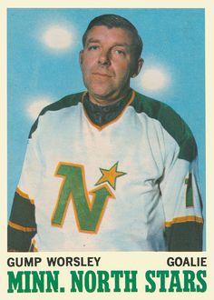 Gump Worsley, the last goalie to play without a mask. Hockey Goalie, Hockey Teams, Hockey Stuff, Ice Hockey, Minnesota North Stars, Minnesota Wild, Montreal Canadiens, Hockey Cards, Baseball Cards