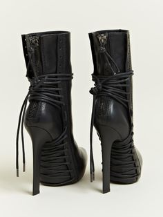 Haider Ackermann Women's Lace Elbamatt Boots. Ankle Boots, Heeled Boots, Bootie Boots, Laced Boots, Crazy Shoes, Me Too Shoes, Mode Lookbook, Sexy Stiefel, Sexy Boots
