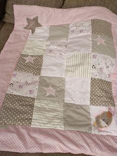 schöne Patchworkdecke für Mädchen, Babydecke  von Katinkabelle auf DaWanda.com