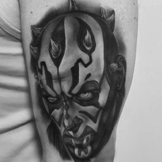 Star Wars Darth Maul Tattoo Darth Maul Tattoo, Portrait Tattoos, Star Wars Darth, Stars, Sterne, Star