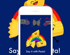 """Check out new work on my @Behance portfolio: """"Say it with Pasta! Barilla Sticker"""" http://be.net/gallery/46778717/Say-it-with-Pasta-Barilla-Sticker"""