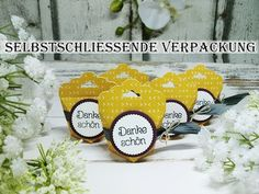 Selbstschließende Verpackung / Box im Mini-Format (Stampin'UP!) Tag-Topper - YouTube