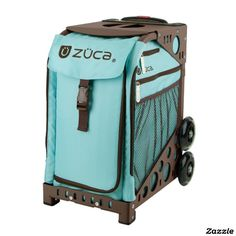 Upgrading from Obsidian on Black to this ZÜCA Rolling Bag w/Calypso & Brown Sport Frame,made by ZUCA, Inc.