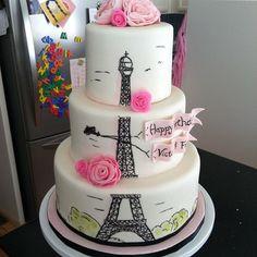 Eiffel Tower loving Cake