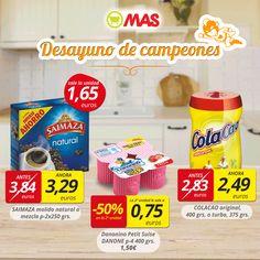Vamos a por el lunes con un desayuno de campeones: café Saimaza, Danonino y Colacao! En #oferta hasta el 29 de abril