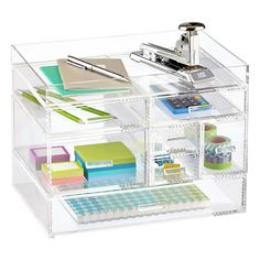 Shop Clear Collection and Organization solutions today. Stationary Organization, Office Supply Organization, Container Organization, Desktop Organization, Cubes, Art Studio Storage, Clear Desk, Vertical Storage, Acrylic Organizer
