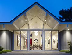 roof-line...  Gary Hutton Lagoon House - contemporary - living room - san…