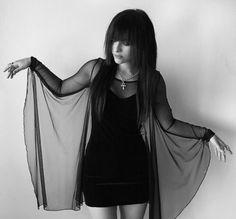 dress black goth goth dress mesh gothic mesh dress flowing dresses