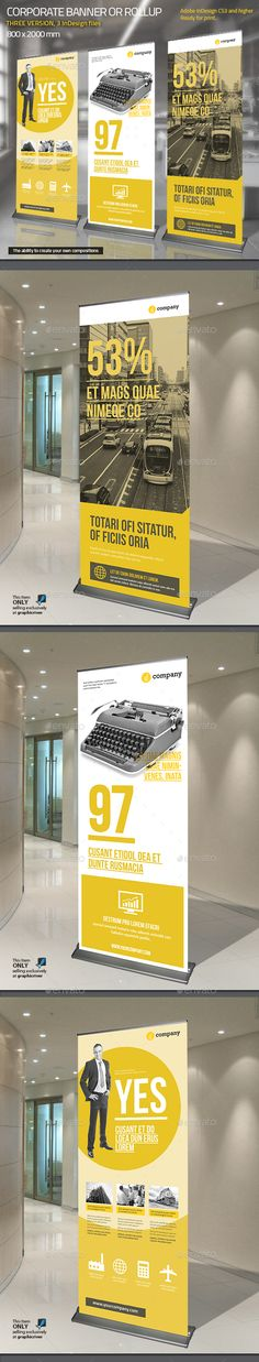 Corporate Roll-up or Banner Template InDesign INDD
