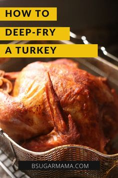 Here is a step by step tutorial on how to deep fry a turkey making a juicy, flavorful, and delicious turkey. #thanksgiving #turkey #turkeyrecipe Turkey Recipes, Chicken Recipes, Dinner Recipes, Dinner Menu, Meat Recipes, Drink Recipes, Delicious Recipes, Free Recipes, Thanksgiving Turkey