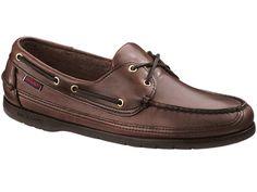 Sebago Schooner - Men's Boat Shoe - Brown Oiled Waxy - 14N