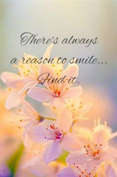 There's always a reason to smile...find it.