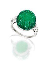 Exquisite Art Deco emerald and diamond ring, circa 1925, Cartier