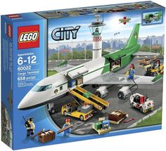 LEGO City 60022 Cargo Terminal Toy Building Set Get busy loading the cargo at the LEGO City Cargo Terminal. view larger LEGO Cargo Terminal It's another busy Toys R Us, Toys For Boys, Kids Toys, Lego Sets For Boys, Toddler Toys, Lego City Toys, Lego City Airport, Best Lego Sets, Lego Boards