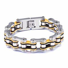 Stainless Steel Chain Bracelet - Multiple Colours
