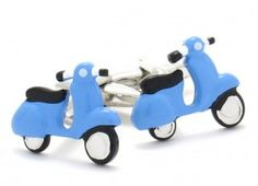 Blue Vespa / Scooter Cufflinks. $25