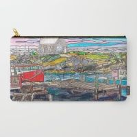 Nova Scotia Boats Carry-All Pouch Nova Scotia, Pouches, Carry On, Boats, Artist, Design, Hand Luggage, Carry On Luggage, Ships
