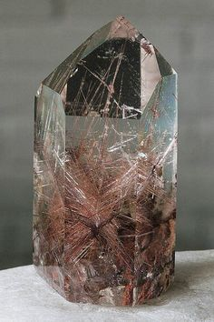 Gorgeous Red Rutile in this lovely Quartz - fast sparkly spiritual energy; also good for tissue healing