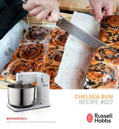 The most traditional of English desserts is the warm and sticky Chelsea bun. It is called a Chelsea bun because it was created in Chelsea. Ingredients: 500g white flour, plus extra for dusting, 1tsp salt, 1 x 7g fast-action dried yeast, 300ml milk, 40g unsalted butter, softened at room temperature, 1 free-range egg, vegetable oil, for greasing. Filling: 25g unsalted butter, melted, 75g soft brown sugar, 2 tsp ground cinnamon, 150g dried mixed fruit. Glaze: 2 tbsp milk & 2 tbsp caster sugar. Chelsea Bun Recipe, English Desserts, Mixed Fruit, Free Range, Ground Cinnamon, Dry Yeast, Hobbs, Unsalted Butter, Food Preparation