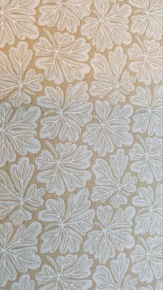 """Beige leaf print quilting fabric. 100% cotton 40"""" wide by AmourFabriQues on Etsy"""