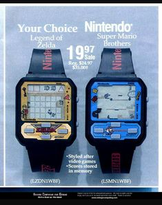 """Gaming watches were still the coolest idea ever. I do not care what """"Smart phones"""" offer these days. Game On! #retrogamer #watches"""