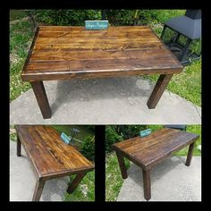 Rustic Reclaimed Wood Table Unique Primtiques Dark Walnut