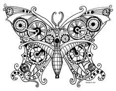 Steampunk doodle | Steampunk Butterfly by ~ShaylynnAnn on deviantART