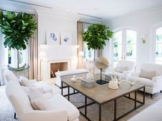 So white! Beautiful but it would never work for us with pups and grandkids. New Coastal Interior Design Ideas