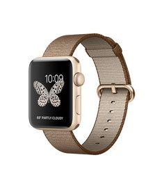 Apple Watch - Aluminiumgehäuse, Gold, mit Armband aus gewebtem Nylon…