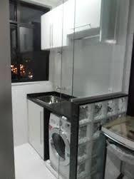 Resultado de imagem para cozinha com lavanderia para apartamento pequeno