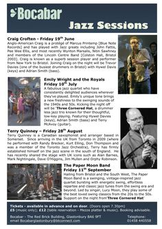 2015 Live music and great food Red Brick Building Somerset Glastonbury 2015, Glastonbury Somerset, Live Jazz, Paper Moon, Brick Building, Red Bricks, Live Music, Food, Essen