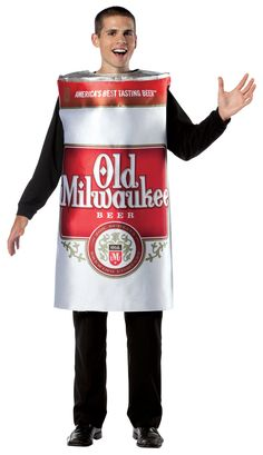 Old Milwaukee Beer Can Adult Costume from BuyCostumes.com