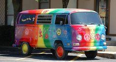 Rainbow Peace VW Bus for becky