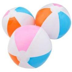 Bright Neon Multicolour Beach Ball Inflatable | Kids Toys