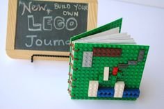 Lego Journal - I want a Lego three ring binder. Art Activities For Kids, Crafts For Kids, Diy Crafts, Smash Book, Homemade Christmas Presents, Lego Table, Minecraft, Cool Lego, Handmade Books