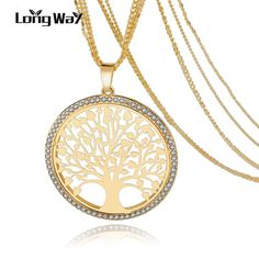 LongWay Tree Of Life Gold plated Long Necklace for Women Vintage Crystal Multilayer Pendant Necklace Female Jewelry Sne160124 //Price: $9.95 & FREE Shipping // Get it here ---> https://bestofnecklace.com/longway-tree-of-life-gold-plated-long-necklace-for-women-vintage-crystal-multilayer-pendant-necklace-female-jewelry-sne160124/    #jewellery