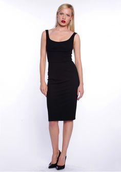 Brise, rochie bodycon cu bretele, neagră