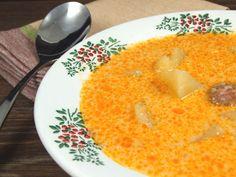 Ciorba de cartofi ardeleneasca Romanian Food, Romanian Recipes, European Dishes, Potato Soup, Soul Food, Macaroni And Cheese, Food To Make, Foodies, Food And Drink