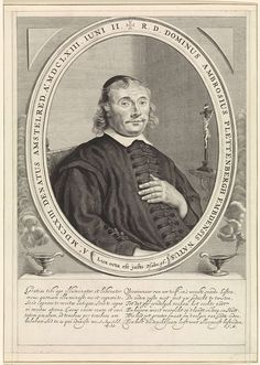Theodor Matham | Portret van Ambrosius Plettenbergh, Theodor Matham, Monogrammist JM (18e eeuw), 1663 - 1676 | Portret van Ambrosius Plettenbergh, pastoor en theoloog te Amsterdam.