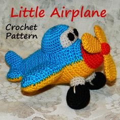 Crochet Pattern. Little Airplane von Inspired Knittoys auf DaWanda.com