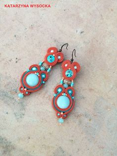 Alcor  boho fancy long coral peach salmon teal by AtelierMagia